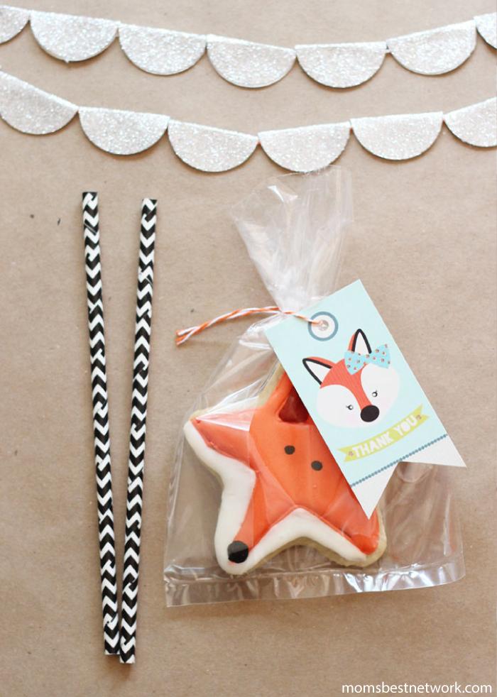 Fox-shaped-sugar-cookies