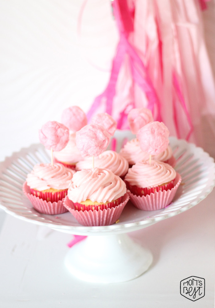 cotton candy cupcake toppers