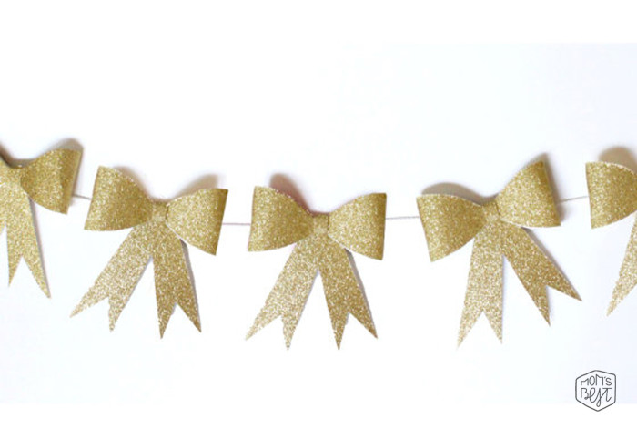 Diy Paper Bowsdress Up Your Next Party With A Paper Bow Garland