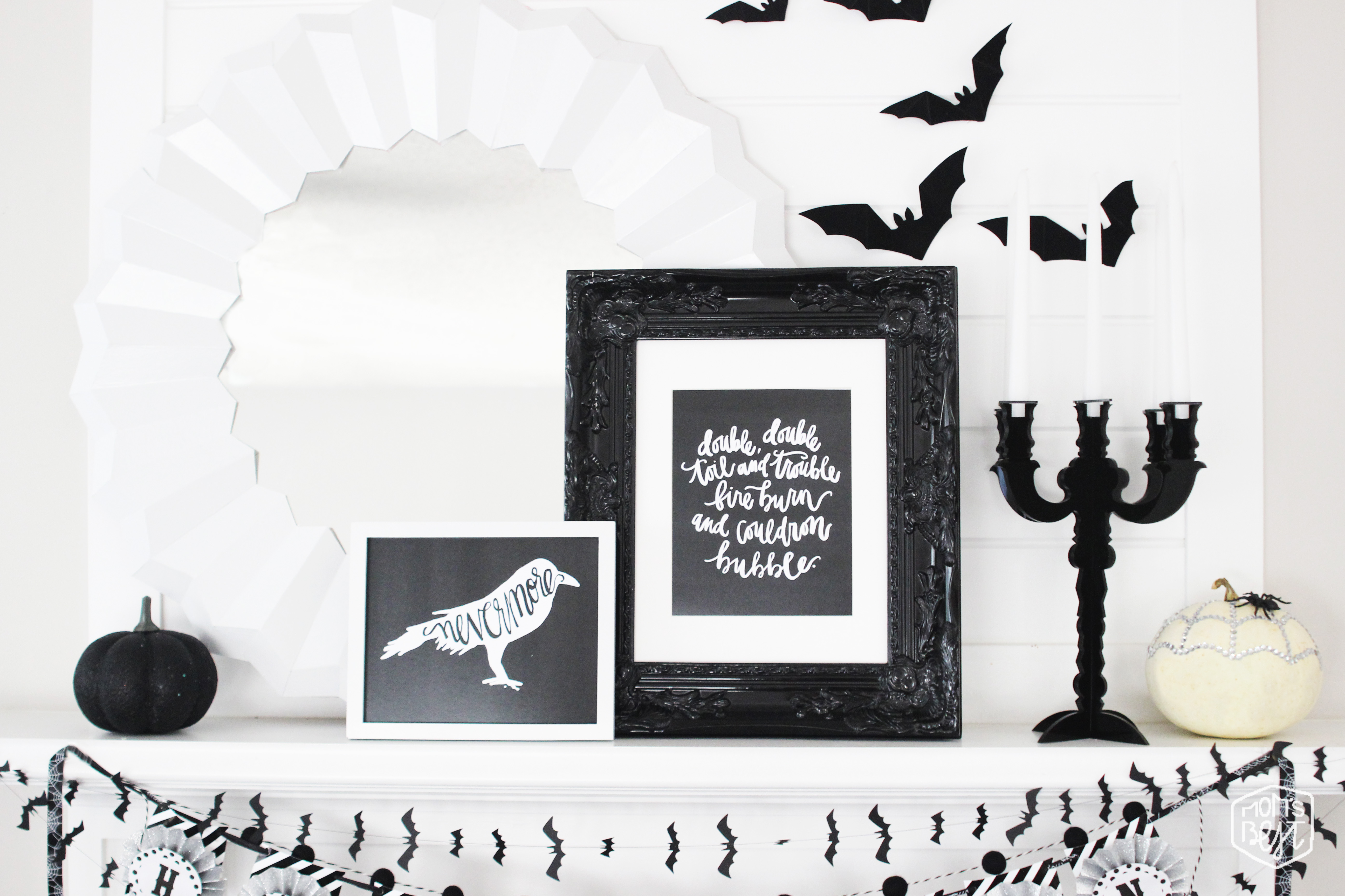 Tips + Tricks On Styling Your Mantle for Halloween