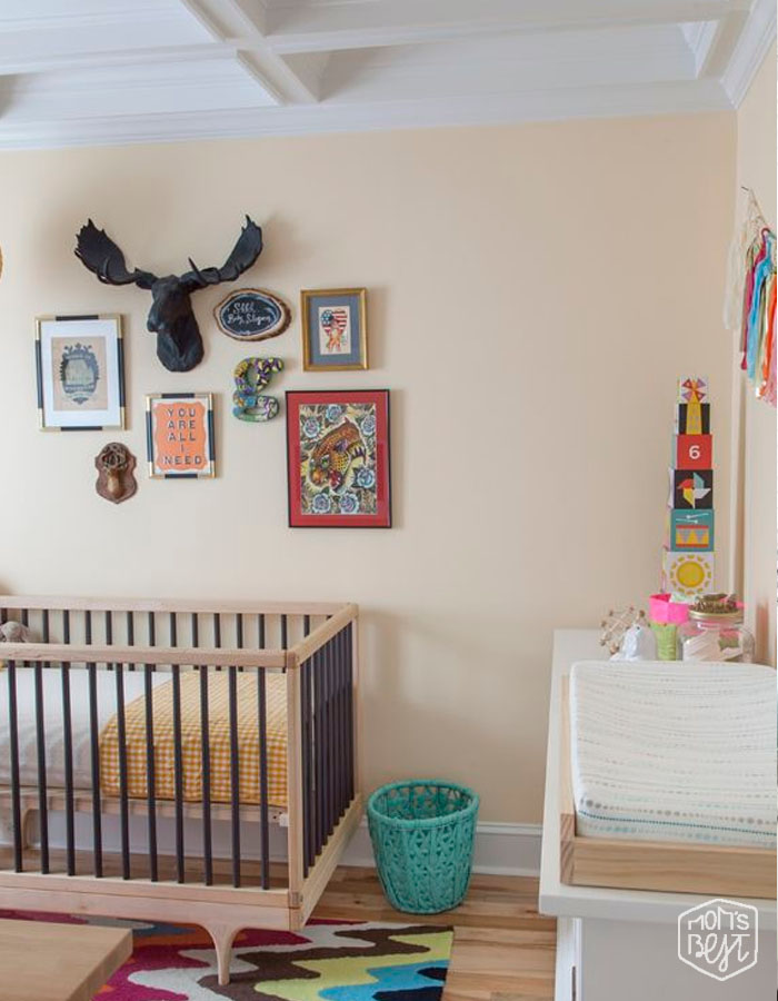 Rustic Nurseries Are The Rage And This Faux Deer Head In Black Is Perfect Addition To Nursery S Gallery Wall Colorful Chevron Rug Playful