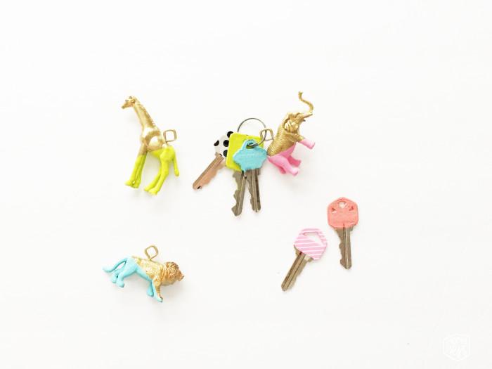 DIY animal key fob