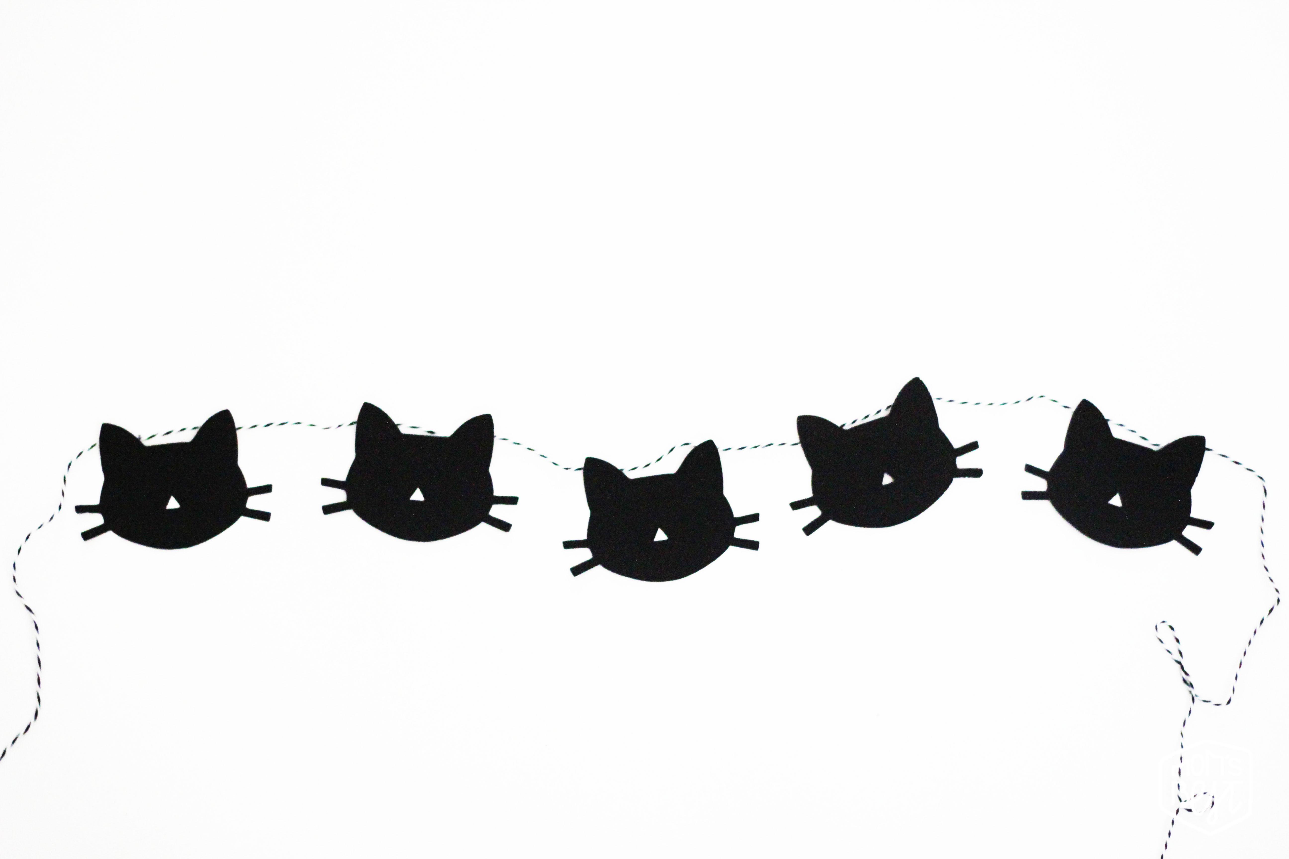 Diy Cat Garland Free Printable Destination Nursery