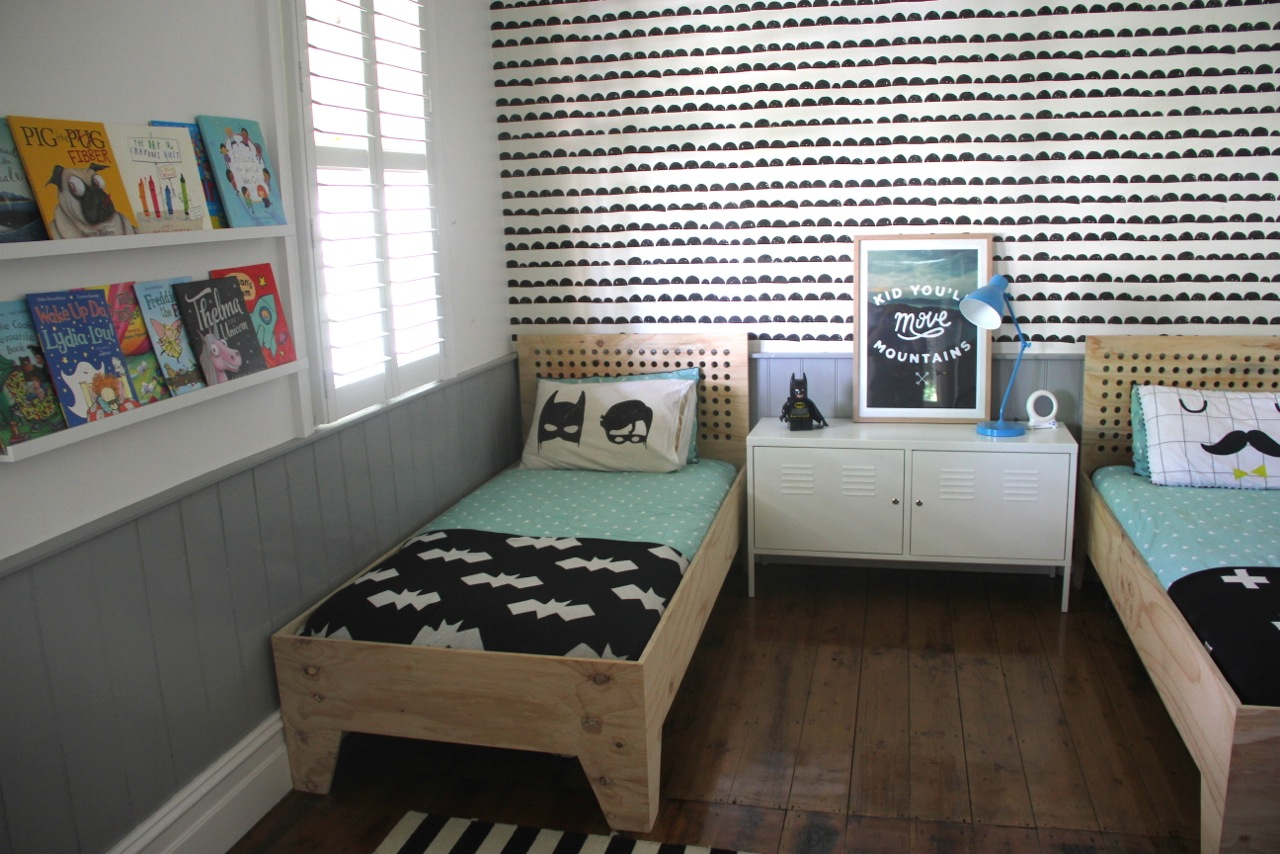 Modern Shared Big Kids Room For 2 Boys Destination Nursery