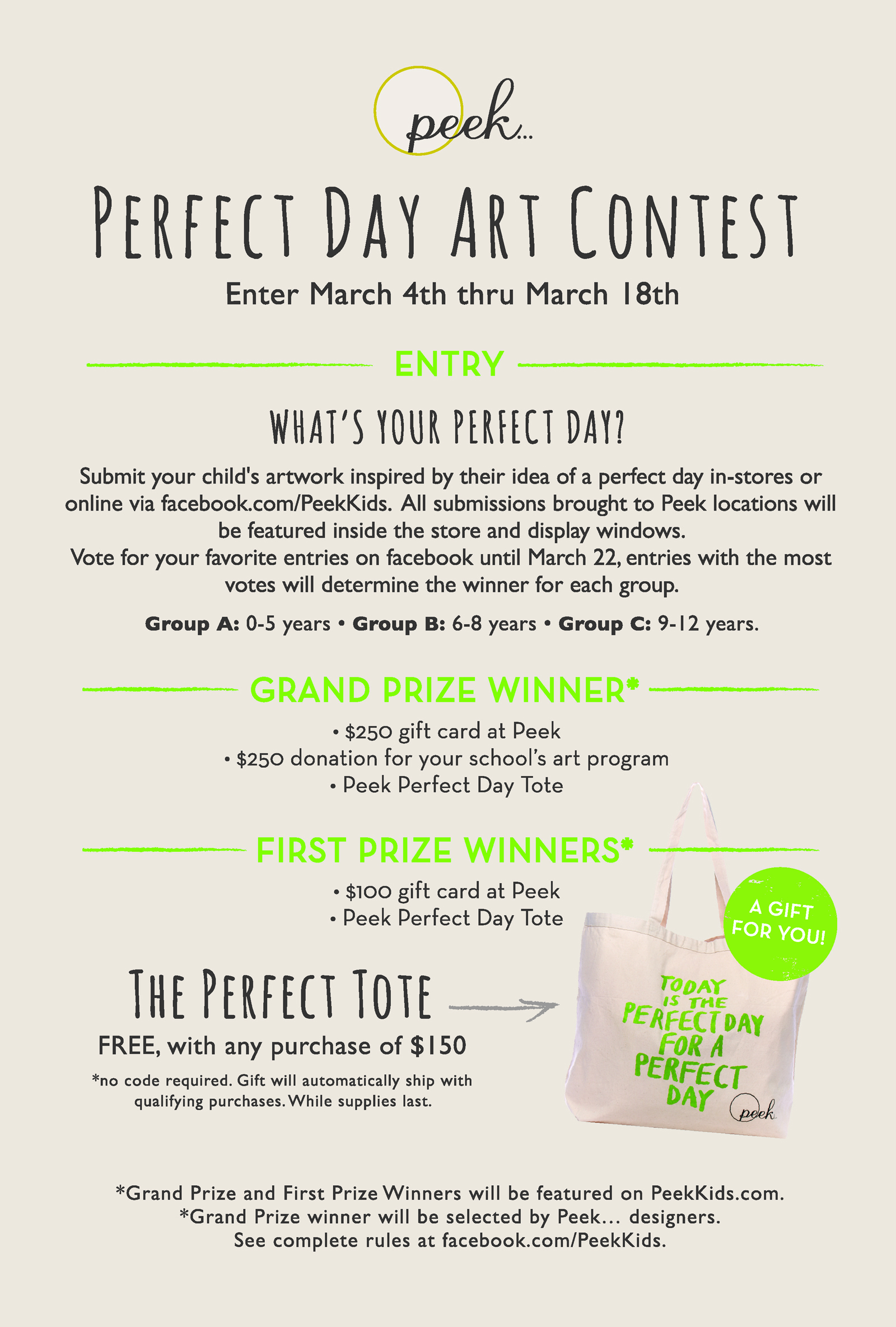 perfect day art contest details peek kids