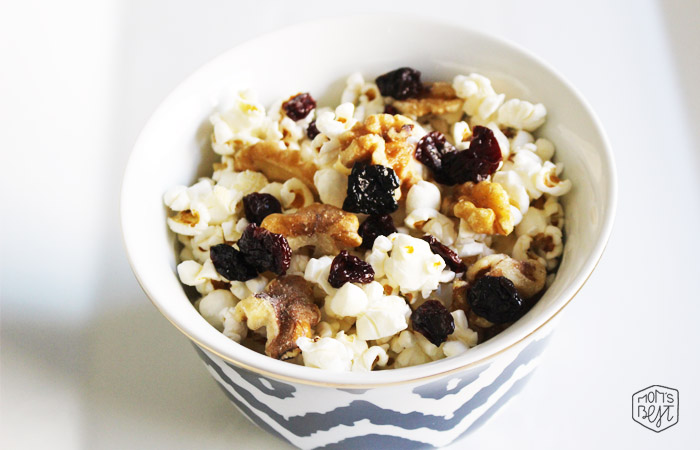 healthy snacks for kids popcorn trail mix