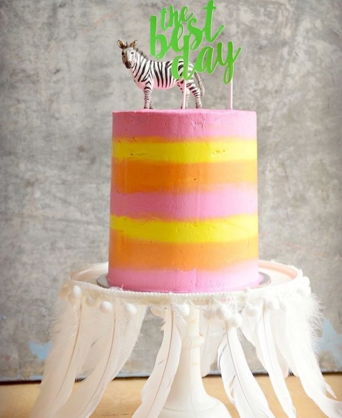 rain bow cake