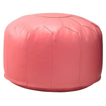 faux leather pink pouf