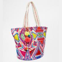 geo-tribal-beach-bag