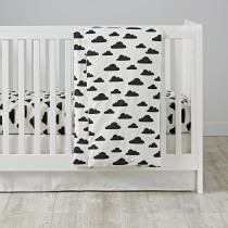 with-a-chance-of-crib-bedding nordic style get the look
